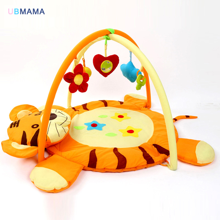 Baby Activity Mat Cartoon Shape With 5 Small Toys Game Baby Mat Toy Baby Folding Fitness Rack Mat Baby Play Gym Mat Toys