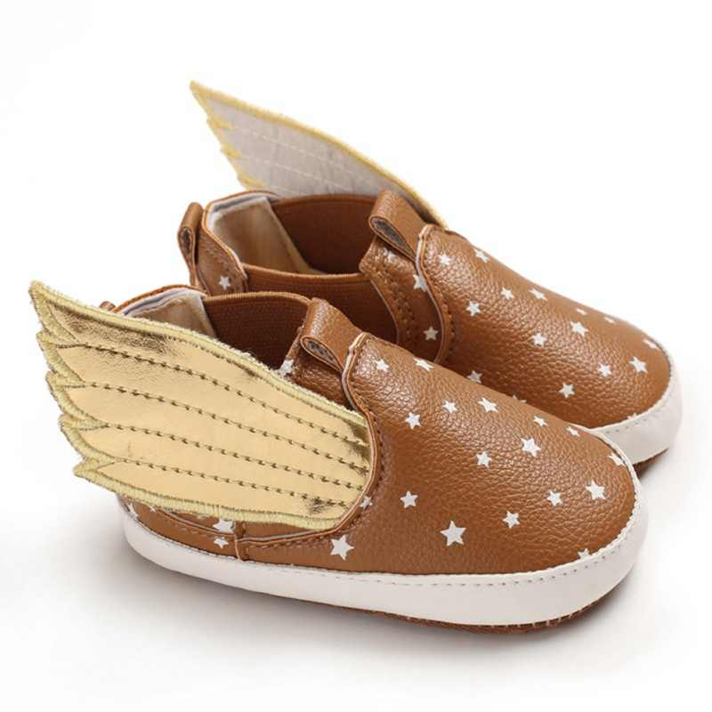 PU Baby Shoes Infant Prewalker Wings Design Baby Booties Toddler Girl Moccasins Boy Casual First Walkers 0-18 Months