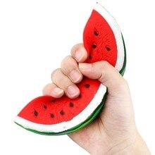 Мягкие Сквош фрукты анти-стресс игрушки милые сжимаемые Jumbo арбуз медленно поднимающийся еда антистресс пищащая игрушка для детей и взрослых 1 шт