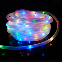 Thrisdar 12M 100Leds Outdoor Copper Solar Led String Light Garland Solar Rope Tube Fairy String Garland