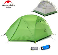 Naturehike Tent Upgraded Star River Camping Tent Ultralight 2 Person 4 Season 20D Silicone Tent With Free Mat