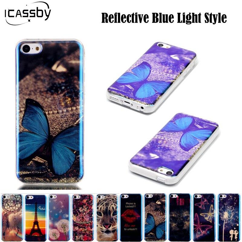 5C 2016 Горячий Синий Свет Ультра Тонкий Мягкие TPU Coque Для Apple iPhone 5C Силиконовый Чехол Задняя Крышка для iPhone 5C Coque Fundas