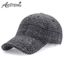 Snapbacks Baseball-Cap Plaid Woolen Women Cotton AETRENDS Felt Z-6246