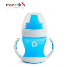 Обучающий поильник-чашка Munchkinс ручками голубой 4+ 120мл.