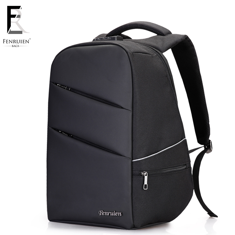 Fenruien New Anti-thief Usb Recharging Men Backpack Laptop Tsa Lock Design Men Business Fashion Message Backpack Travel