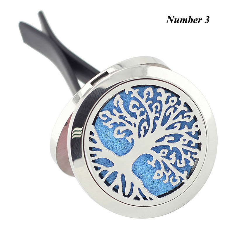 Wholesale 30mm New Car Aromatherapy Essential Oil Diffuser Locket 316L Stainless Steel Round Shape Magnetics Car Perfume Locket in Pendants from Jewelry Accessories