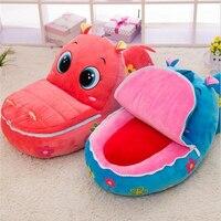 Fancytrader Kawaii 50cm Cartoon Animal Frog Hippo Crocodile Monkey Kids Sofa Big Plush Baby Toy Nice Gift