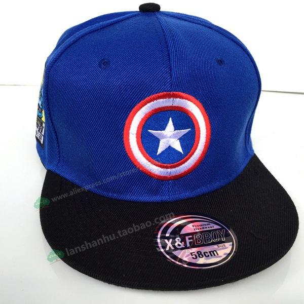 canvas unisex captain caps cute cartoon flat sun hats iron man avengers hip america civil war baseball cap shield hat