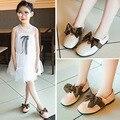 Обувь для маленьких девочек  черная  розовая  бежевая  с бантом  повседневная кожаная обувь для студентов  тонкие туфли для девочек 3  4  5  6  7  О...