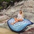 Trendy Rodada Hippie Praia Jogar Roundie Mandala Toalha de Praia Bikini Cover Up Xale Bohemian Floral Impresso Tassel Pashmina Aug18