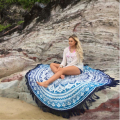Trendy Round Hippie Beach Throw Roundie Mandala Towel Beach Bikini Cover Up Shawl Bohemian Floral Printed Tassel Pashmina Aug18
