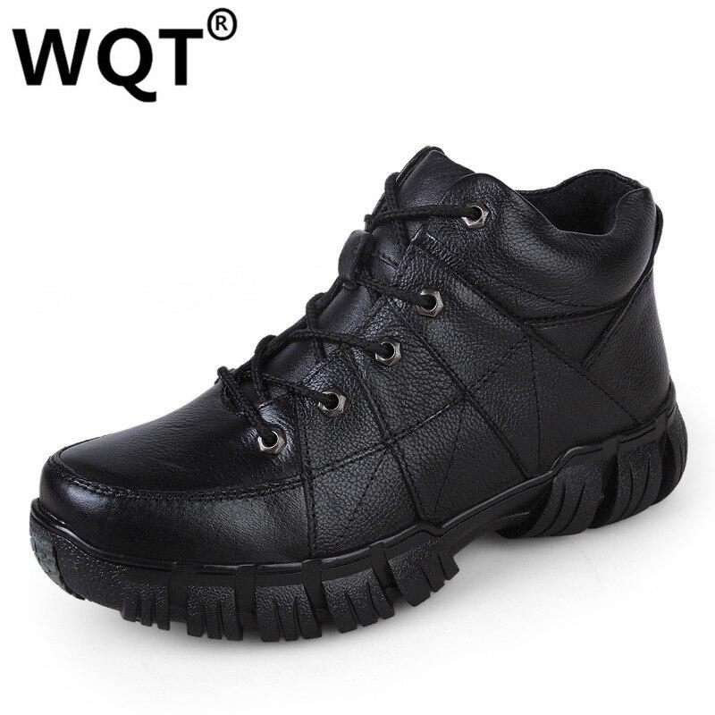2016 Plus Velvet Warm Winter Boots Genuine Leather Shoes Men Boots Work Boots Men Outdoor Botas Masculina Essential Men Shoes men boots 2015 men s winter warm snow boots genuine leather boots with plus velvet shoes high quality men outdoor work shoes