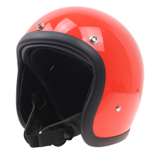 TT CO style motorcycle helmet No more mushroom head light weight and comfortable Fiberglass shell hand made open face helmet