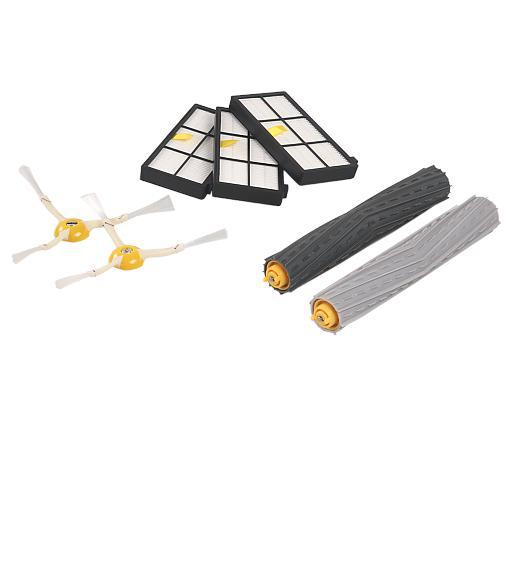 Tangle-Free Debris Extractor Set & Side Brushes & Hepa Filters replacement Kit For iRobot Roomba 880 870 1x tangle free debris extractor set
