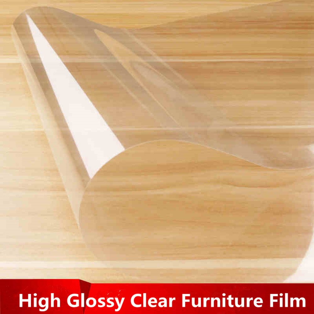 4Mil High Glossy Anti Scratch Wall Table Protective Film Furniture Film Sticker 60 152cm x 10ft