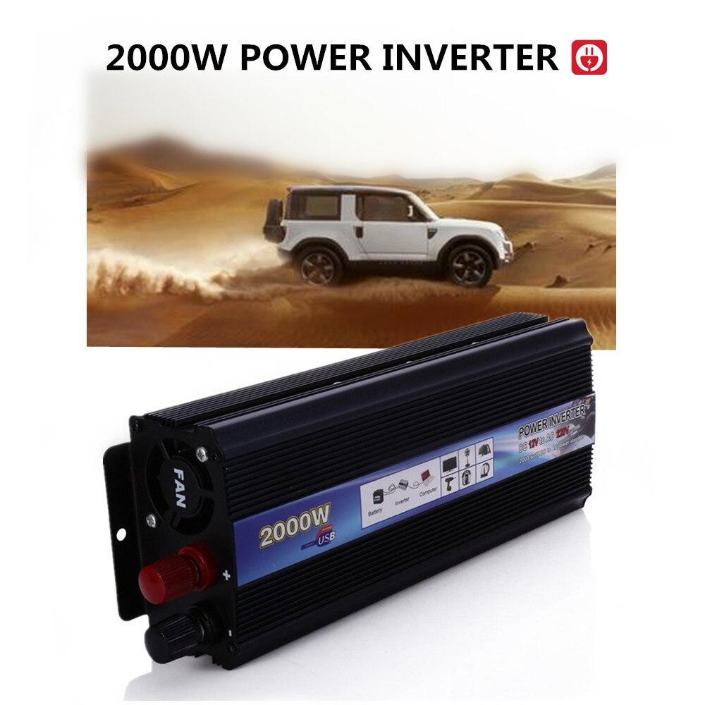 ФОТО DC 12V to AC 220V Power Inverter Car Vehicle Voltage USB Power Inverter Adapter Converter Car Travel Inverters Fit below 800W