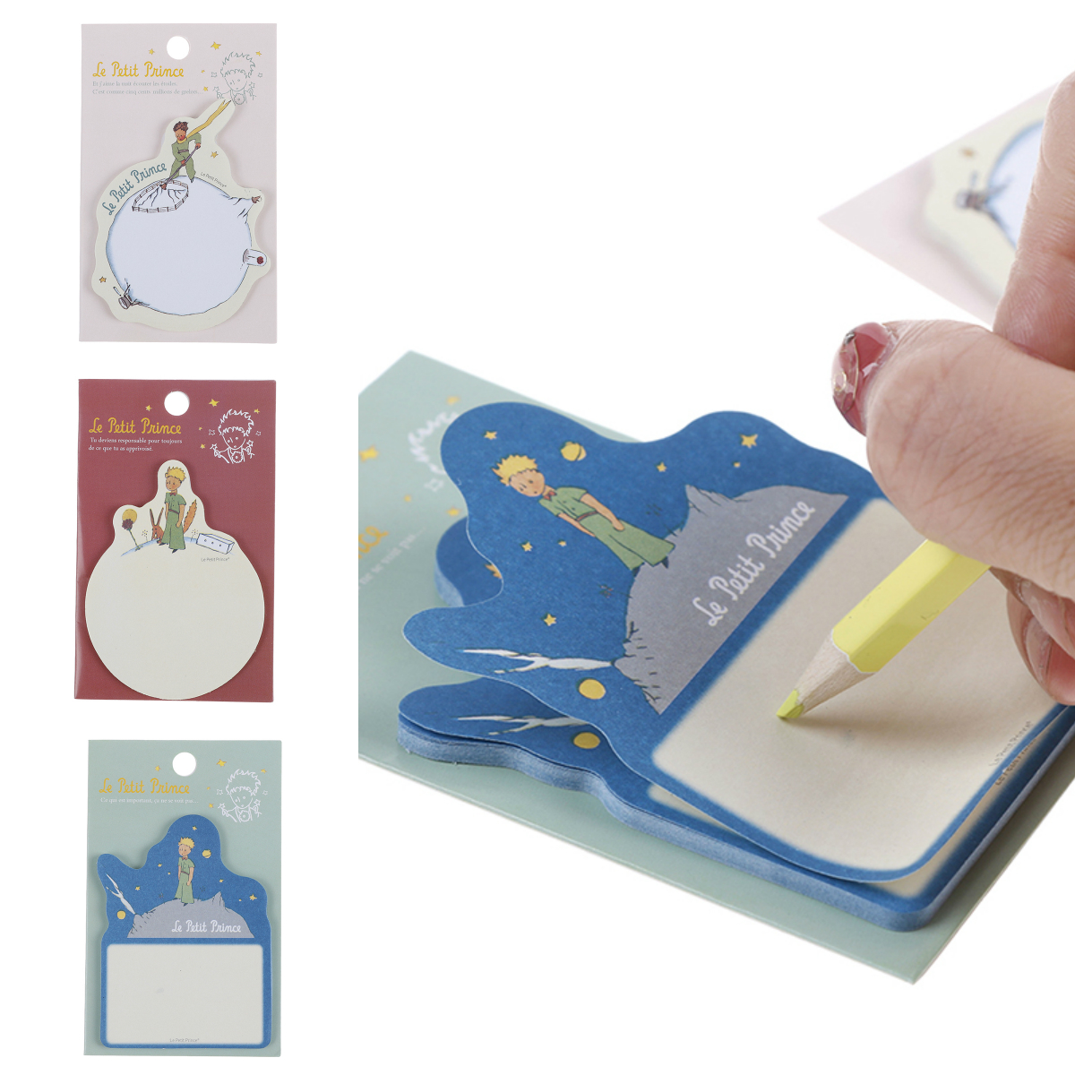 1pcs New Little Prince Memo Sticker Paper Sticky Note Fair Tale Card Self-Adhesive Bookmark Office School Supplies