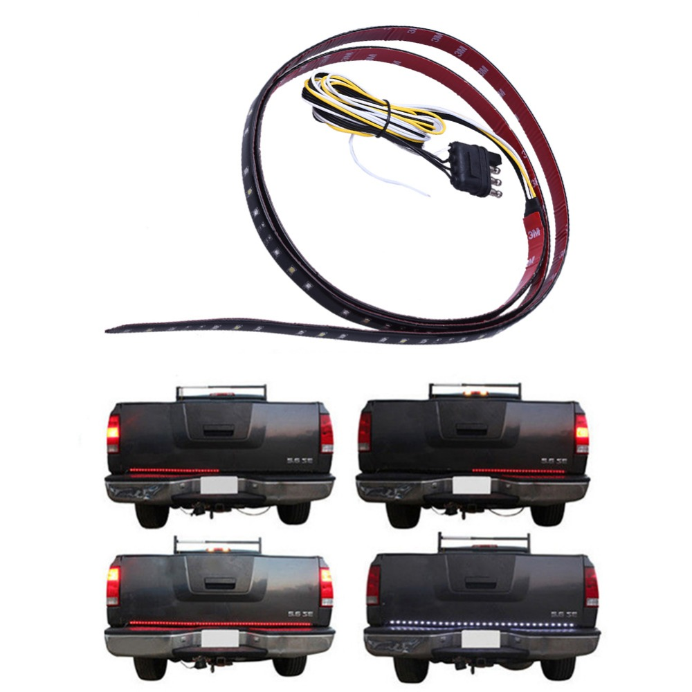 Car Tail Gate Signal Turn Brake LED Strip Light 49 inch 72SMD Door Light Strip 12M For Pick Up Truck IP65 Waterproof 2.5W Lights