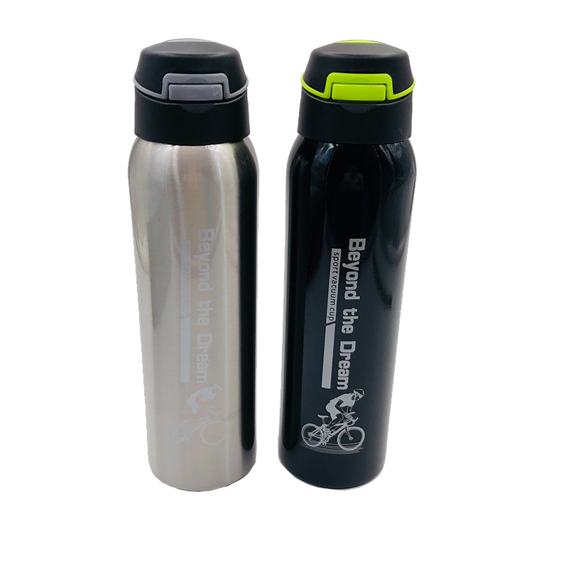 New 500ml Mountain Bike Riding Bicycle Water Bottles Double Stainless Steel Thermos Cup Warm-keeping Water Cup Jug Sports Kettle