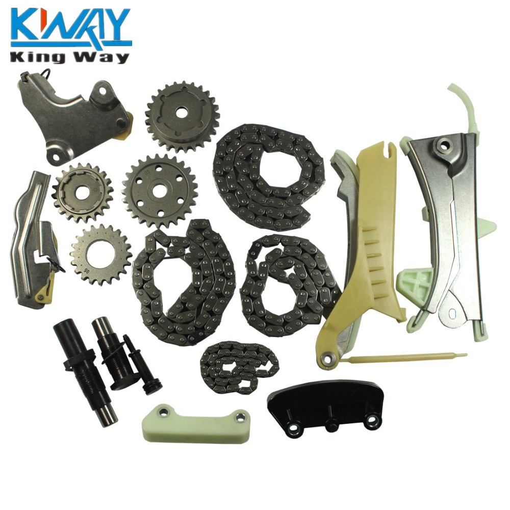 free shipping king way timing chain kit w gears for 97 09 ford explorer mazda mercury 4 0l sohc. Black Bedroom Furniture Sets. Home Design Ideas