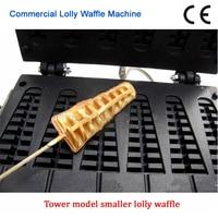 Lolly Wafelijzer Elektrische Lange Wafel Machine 110 v 220 v non-stick Wafel Baker 6 stks Mallen Merk nieuwe