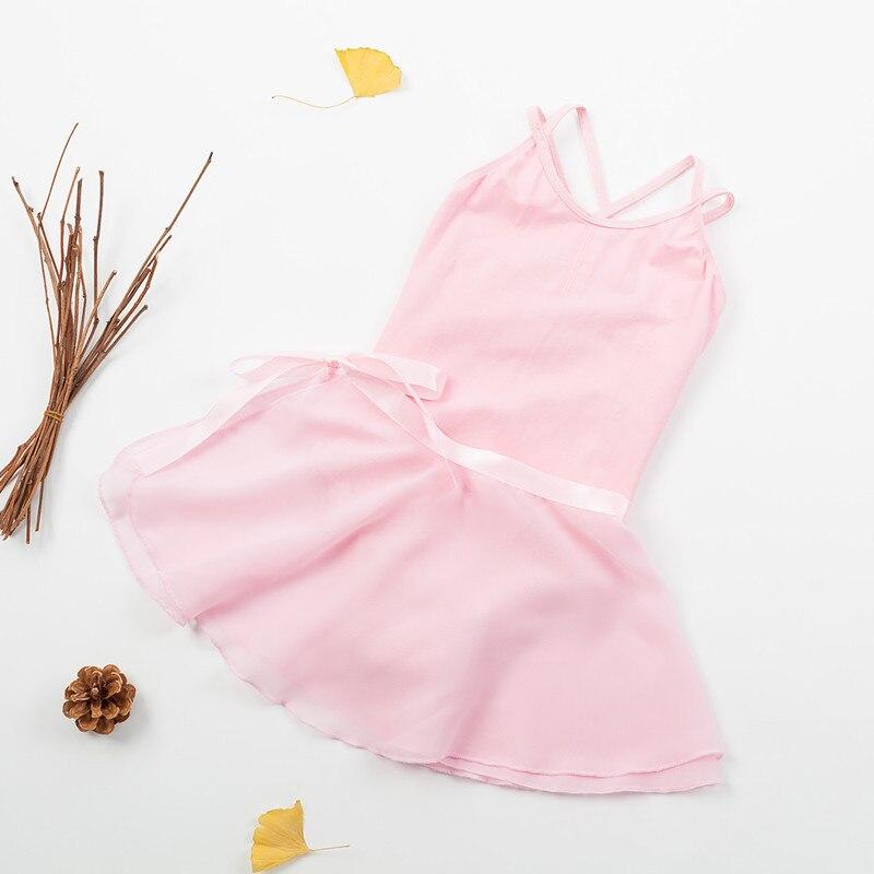Платье без рукавов для девочек балетное платье пачка Купальник для танцев гимнастика одежда с ремешками Бант дизайн наряды для девочек мил...
