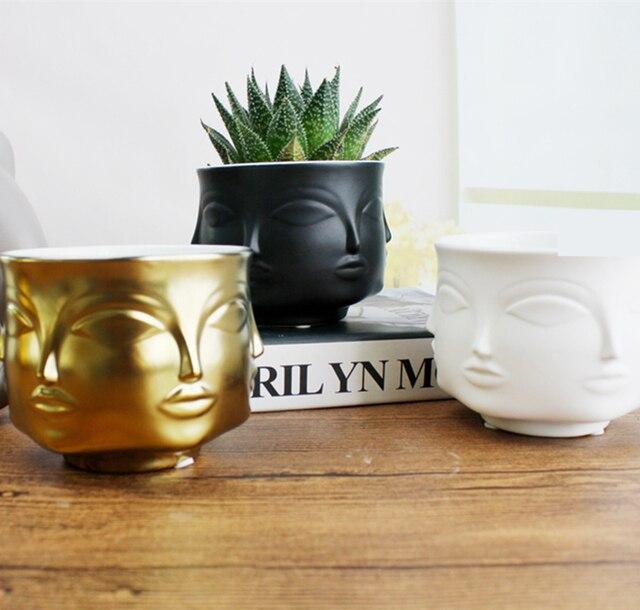 Modern Styler Face Pattern Dora Maar Musa Vase Flower Pots Planters Muse Noir Salad