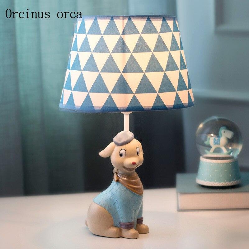 Cartoon creativity dog table lamp children's room boys and ...