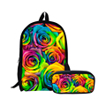 Новая школьная сумка для подростков  сумка для девочек  рюкзаки с цветами  школьный женский рюкзак  розовые женские дорожные сумки  Mochilas  рюк...
