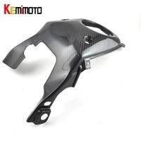 KEMiMOTO For Yamaha MT 07 MT07 Gas Tank Top Cover Panel Cowl Fairing Real Carbon Fiber