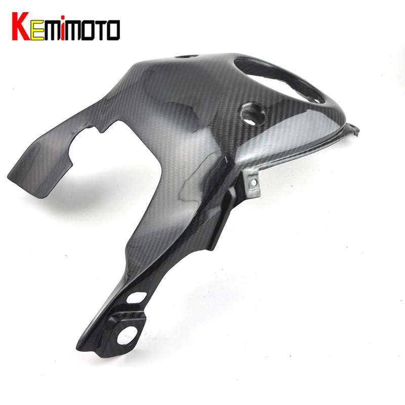 KEMiMOTO For Yamaha MT 07 MT07 Gas Tank Top Cover Panel Cowl Fairing Real Carbon Fiber FZ-07 MT-07 2013 2014 2015 2016 2017 for yamaha mt 07 fz 07 mt07 fz07 rear seat cover cowl painted abs plastic for yamaha mt 07 fz 07 mt07 2014 2015 2016 new arrival
