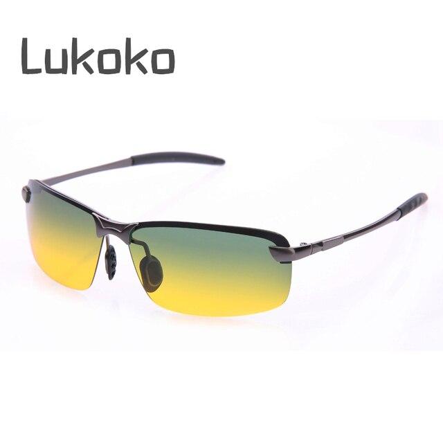 e021cec284394 Lukoko Anti Glare Hd Visão Dia Noite Óculos Para Dirigir À Noite Gozluk  Gunes Gozlugu Masculino