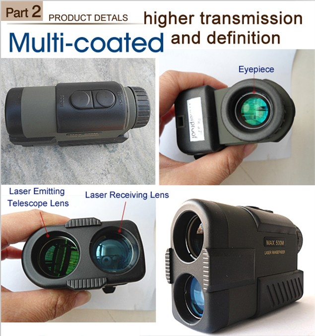 High Quality Waterproof 500m Laser Distance Meter and Speed Range Finder Monocular Laser Rangefinder for Golf and Outdoor Sports