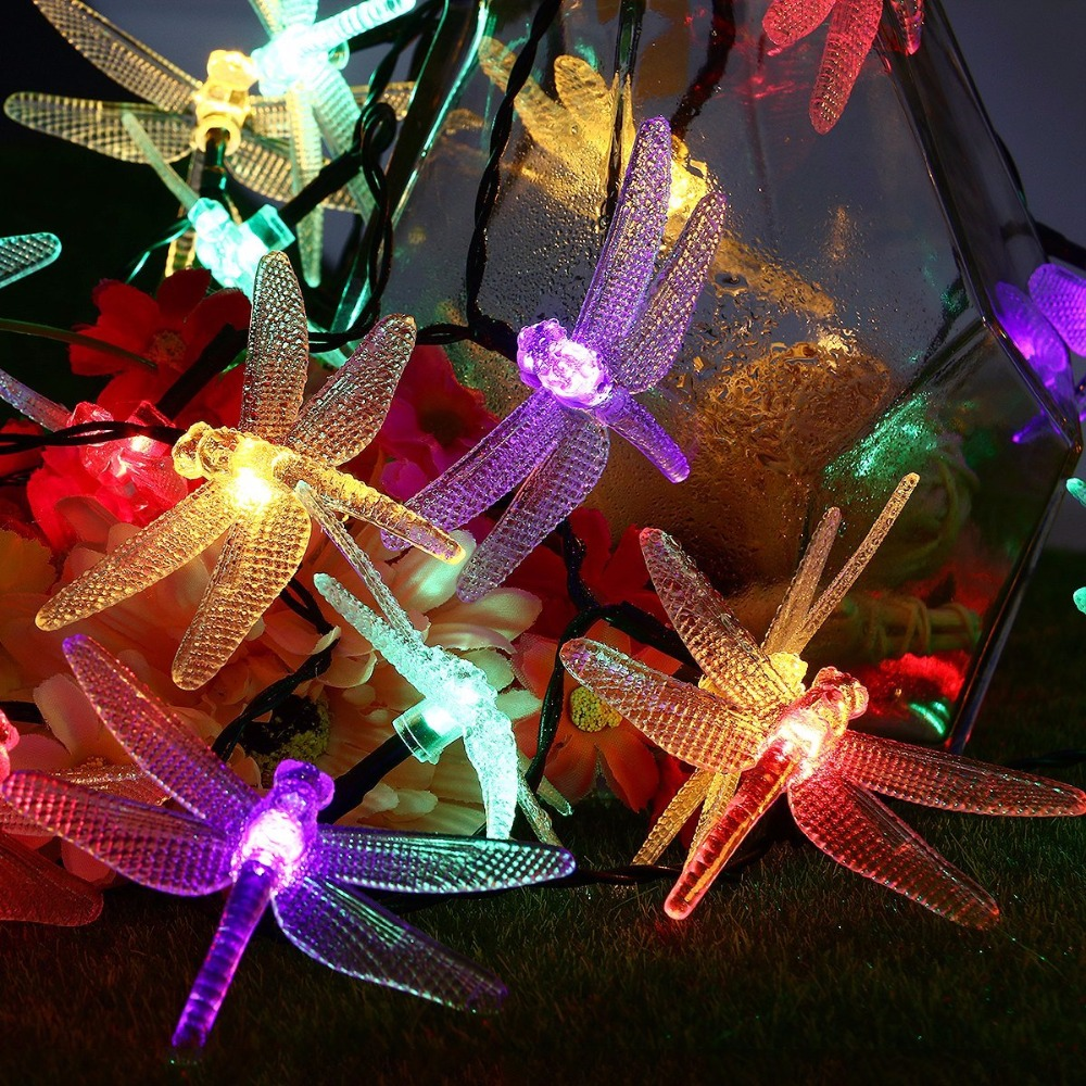 40 LED Waterproof Fairy Lights with 8 Modes Solar Powered Outdoor Lights for Home Patio Lawn Path Party Decorations