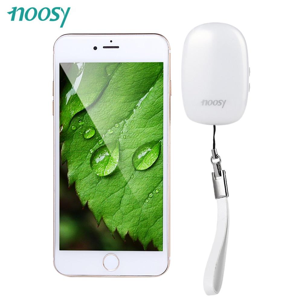 imágenes para Blanco NS08 App Teléfono Portátil Bluetooth 4.0 Dual SIM Adaptador NOOSY Función de Obturador de La Cámara para el iphone con la Batería de Alta Capacidad
