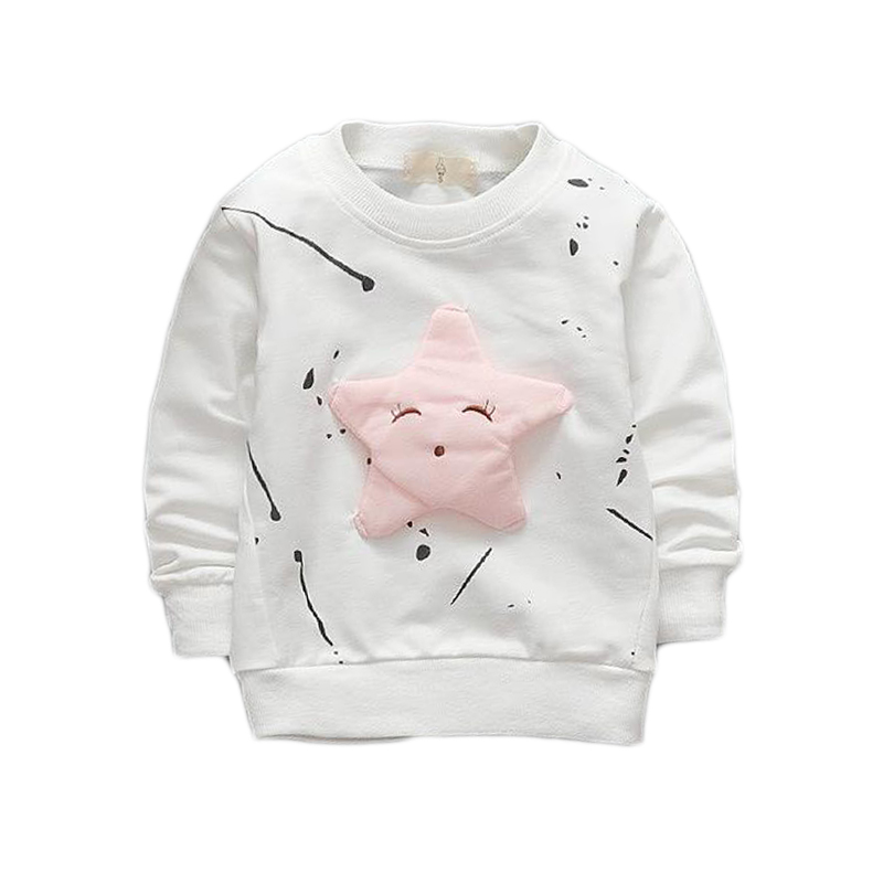 1 2 3 4 Years Baby Boys Girls Sweatshirts 2018 New Spring Autumn Long Sleeve Cartoon Kids T-shirts Cotton Children Tops Clothing