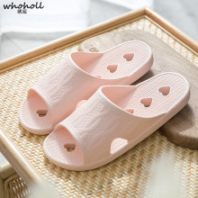 WHOHOLL 2019 Women/Mens summer home Slippers Non-Slip Shower Sandals House Soft Foams Sole Pool Shoes Bathroom Slide