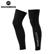 Rockbros Anti UV400 Fietsen Beenwarmers Compressie Knie Pad Protector Been Mouwen Outdoor Sport Veiligheid Voetbal Running Leggings(China)