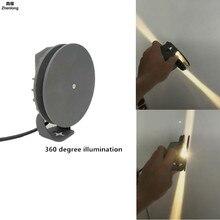 Купить с кэшбэком LED Floodlight 360 Degrees Illuminate Outdoor Light Waterproof Outline Door Frame Light 12W 110V 220V Windowsill Gate Light Lamp