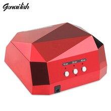 Genailish – 36 Вт УФ Лампы для Ногтей, Сушилка для Маникюра, Лампа для Ногтей, Сушилка Для Ногтей, UV LED Лампа в виде Ромба, Лампы для Отверждения УФ-Гель Лак