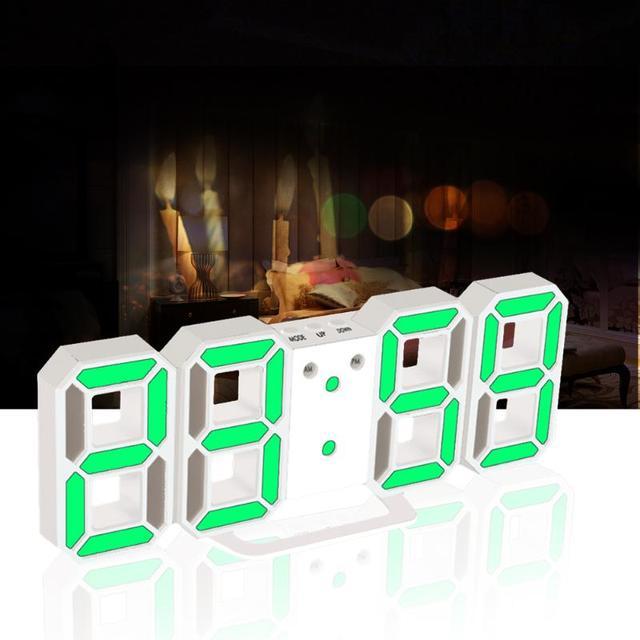 Led Digital Clock Alarm Clock Table Clock despertador 24 or 12-Hour Display Alarm Snooze 8888 Display Blue Green Red White