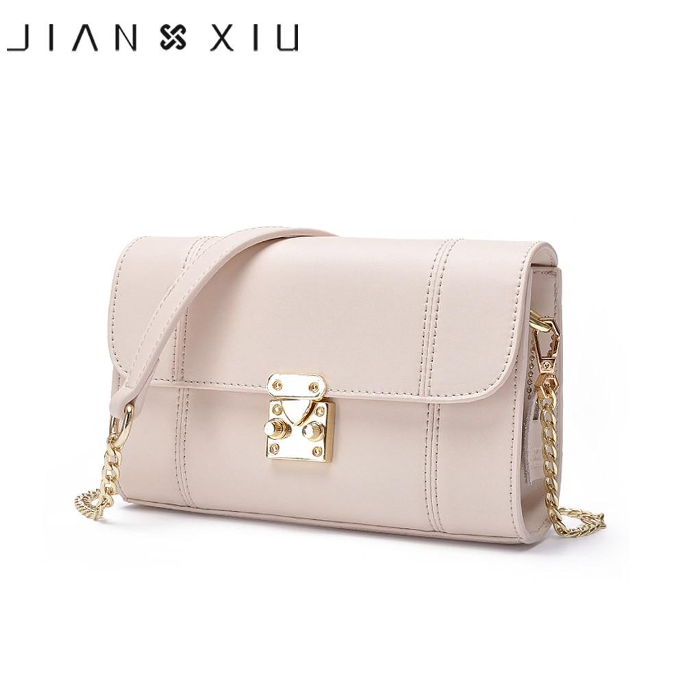 JIANXIU Brand Women Messenger Bags Split Leather Bag Tassen Shoulder Crossbody Chain Small Bag Solid Color 2018 Fashion Tote Bag