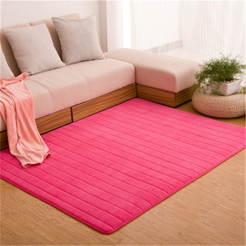 Ultra Soft Thick Memory Foam Absorbent Coral Fleece Fabric Area Rugs  Nonslip Living Room Carpet Bathroom Rugs Set Floor Shag Rug In Carpet From  Home ...