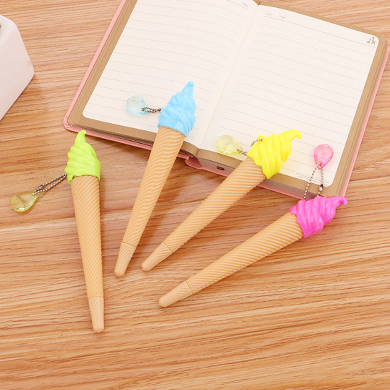 1 Pcs Cute Kawaii 12.5cm Ice Cream Creative Gel Pens For Kids Children Students And Office Stationery Office Supplies
