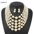 pearl necklace multilayer gold statement new fashion bead popular women boho strand necklace bohemian party jewelry 3110