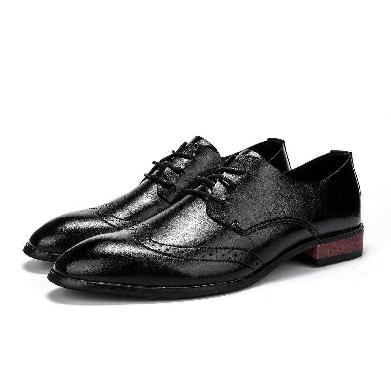 Brun En Pointu Black Habillées Cuir Hommes Robe Mens Shoes Thestron Marque Mode Chaussures Nouvelle Bout Noir Classique Shoes brown Mâle 2018 Formelle qfwqZx