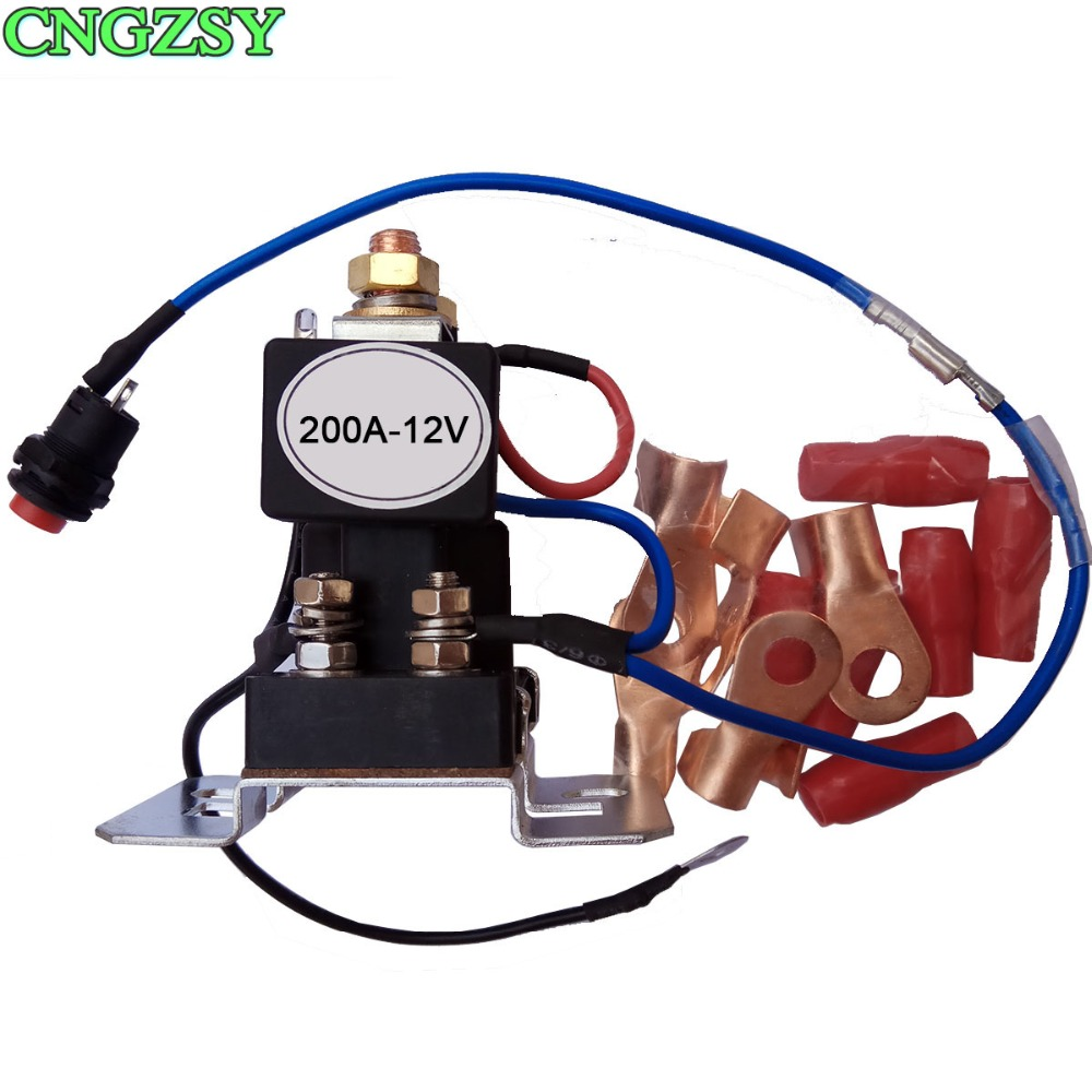 200 AMP Battery Isolator+Relay 4 Terminal Dual Battery Switch DC 12V/24V Relay On Off Car Automotive Power Control Switches R36 12v 24v 30 40 a amp 4 pin 4p wire 5p 5 pin automotive auto harness car relay switch socket