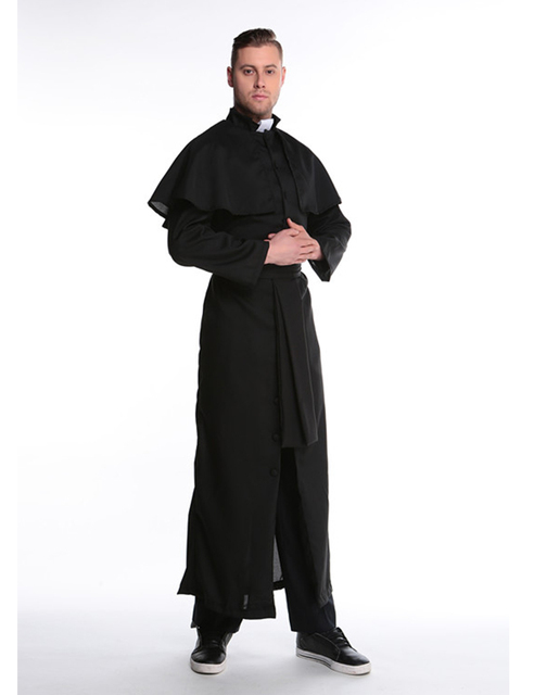 MOONIGHT Halloween Costumes Adult Mens Costume European Religious Men Priest Uniform Fancy Dress Cosplay Costume for Men 4