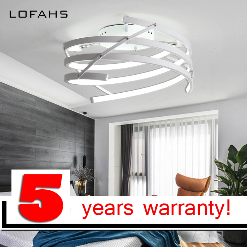 LOFAHS Finished Chandeliers LED Woven Modern Chandelier Lights For Living Room Acrylic Lampara de techo indoor Lighting rings white black chandeliers led circle modern chandelier lights for living room avize acrylic lampara de techo indoor lighting
