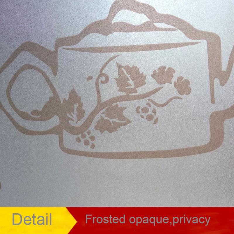 Art teapot tea Window sticker glass Film Home Decor bathroom Tea room kitchen Self-adhesive Window Glass Sticker 45/60/90*200cm